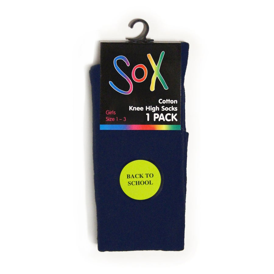 1 Pack Sox Cotton Knee High Socks - Girls'