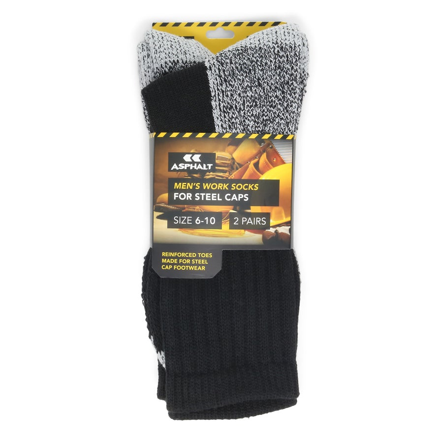 2pk Steel Cap Work Socks