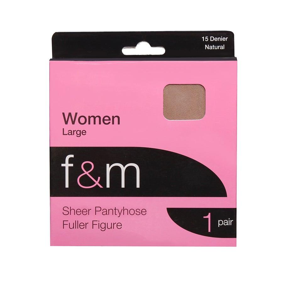 F&M Sheer Tights - Fuller Figure