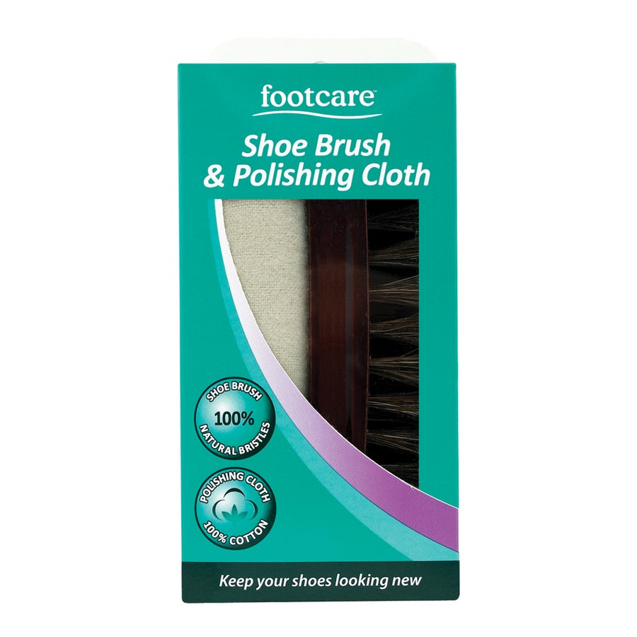 Footcare Shoe Brush and Cloth