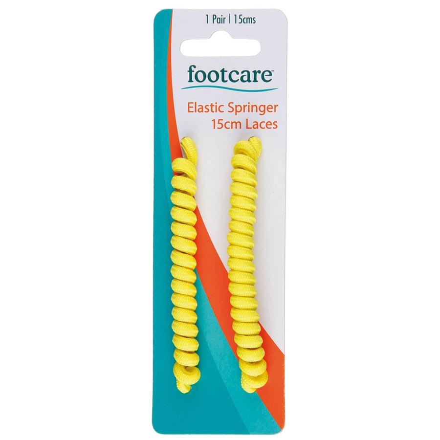 Footcare Springer Yellow Shoe Laces - 15cm