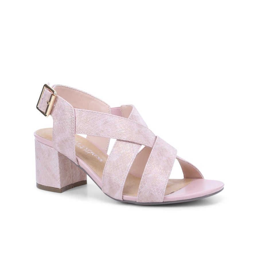 Ivory Block Heels - Wide Fit