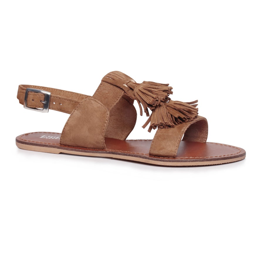 Limited Edition Viola Leather Sandals