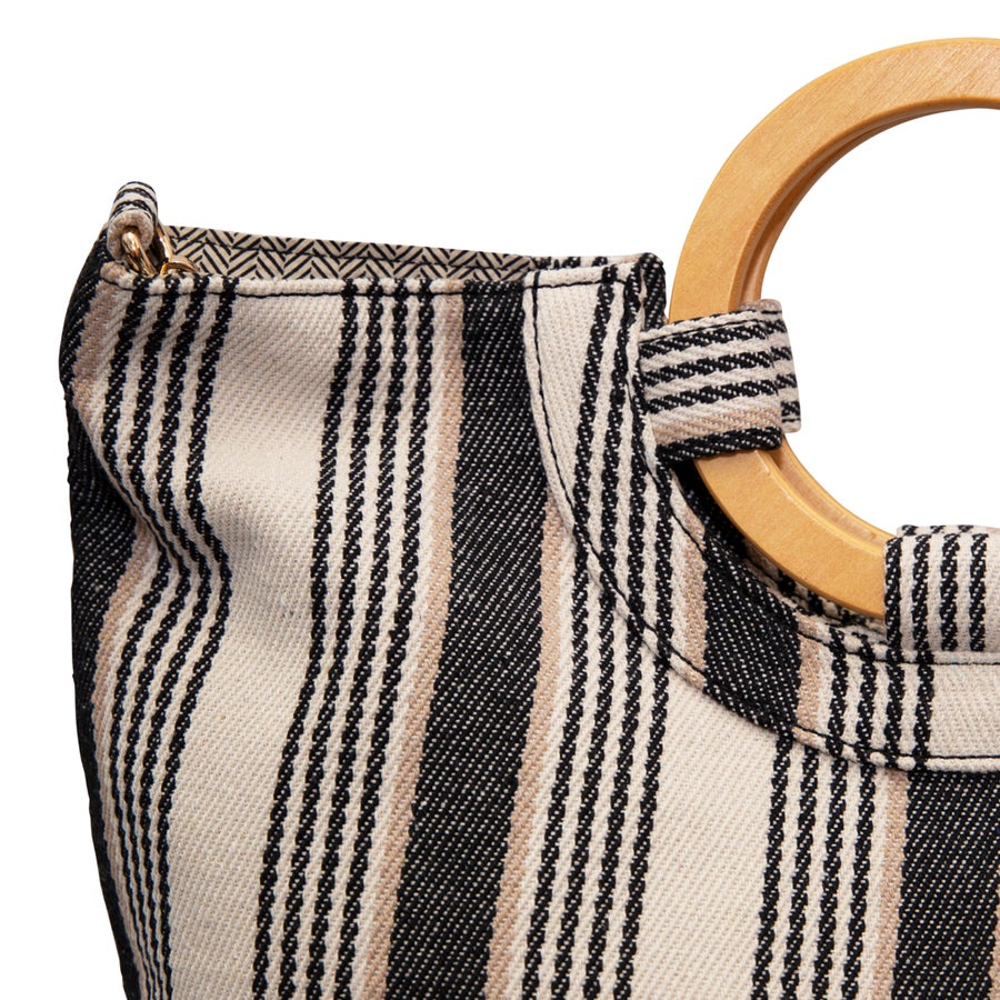 Mia Striped Beach Bag