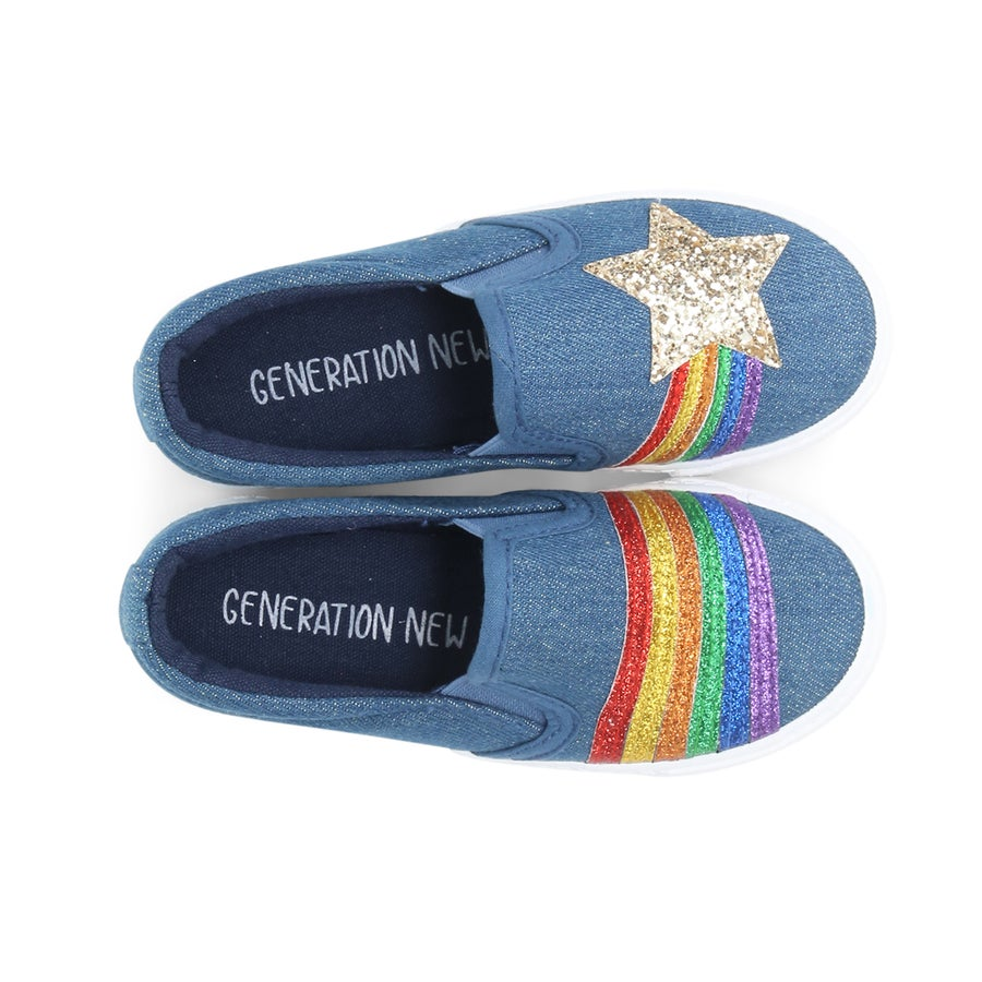 Rainbow Star Toddler Sneakers