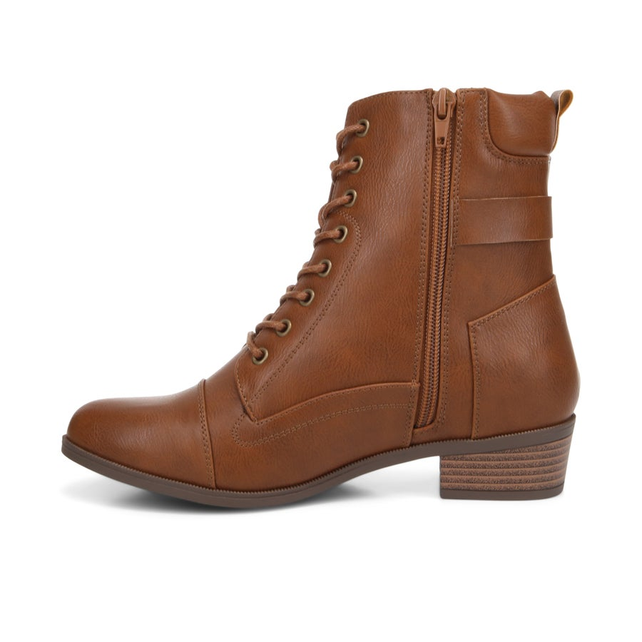 Sage Lace Up Ankle Boots - Wide Fit