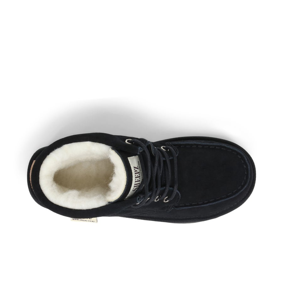 Sheepz Kingsbury Leather Slipper Boots