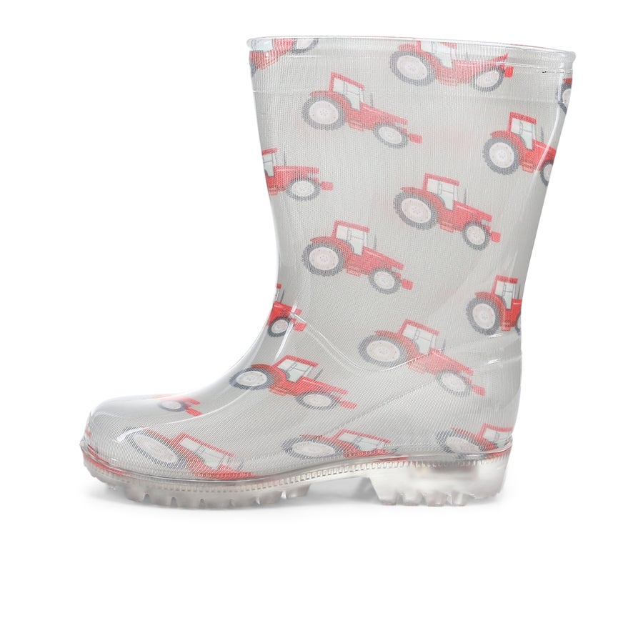 Tractor Lights Toddler Gumboots